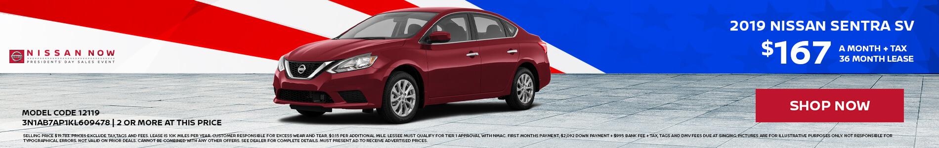 Nissan Sentra $167 Lease