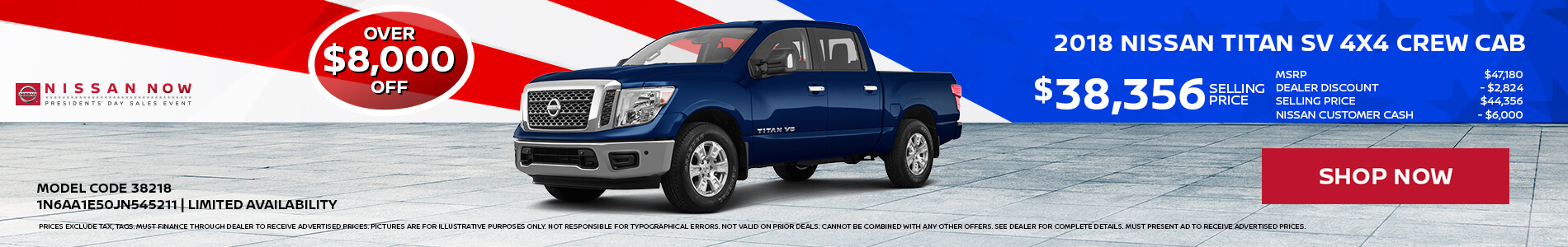 Nissan Titan $8,000 OFF MSRP