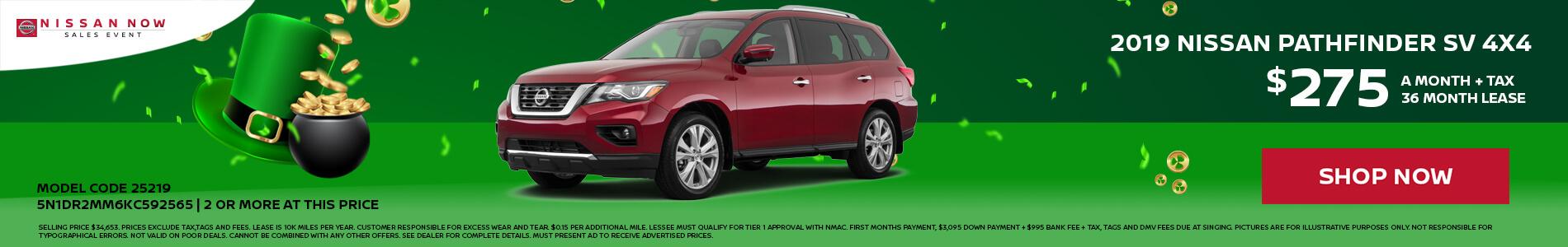 Nissan Pathfinder $275 Lease