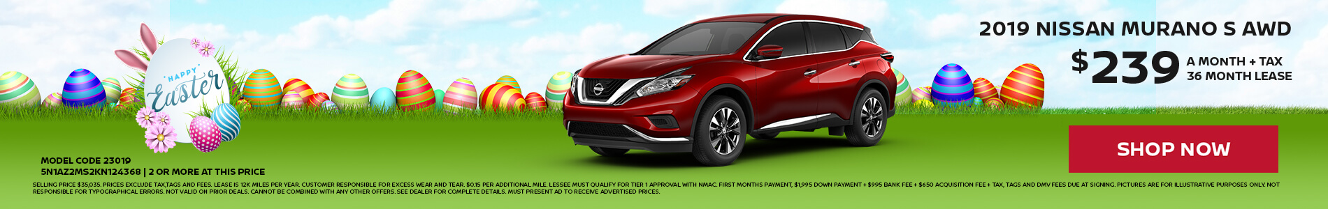 Nissan Murano $239 Lease