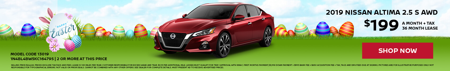 Nissan Altima $199 Lease