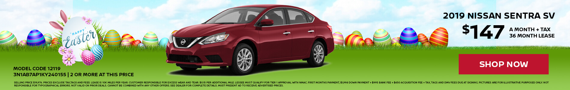 Nissan Sentra $147 Lease