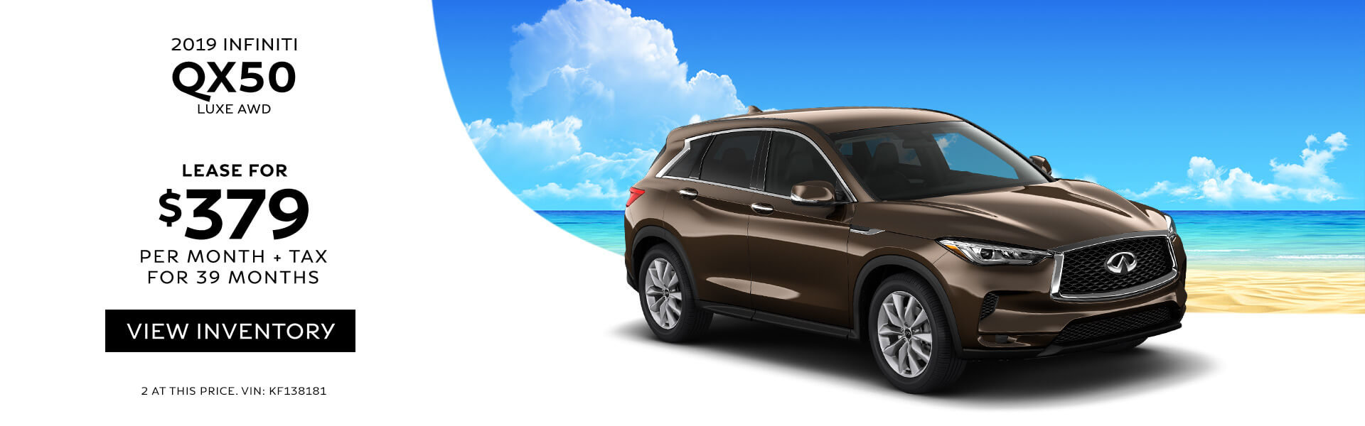 QX50 Lease for 379