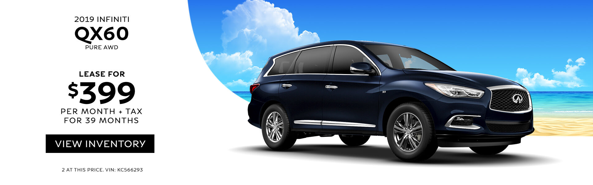 QX60 Lease for 399