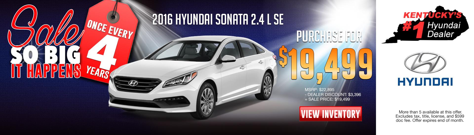 All New 2016 Hyundai Sonata SE