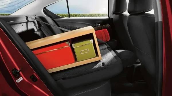 2019 Nissan Versa Sedan 60 / 40 split rear seatbacks