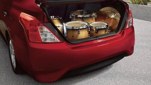 2019 Nissan Versa Sedan rear cargo space