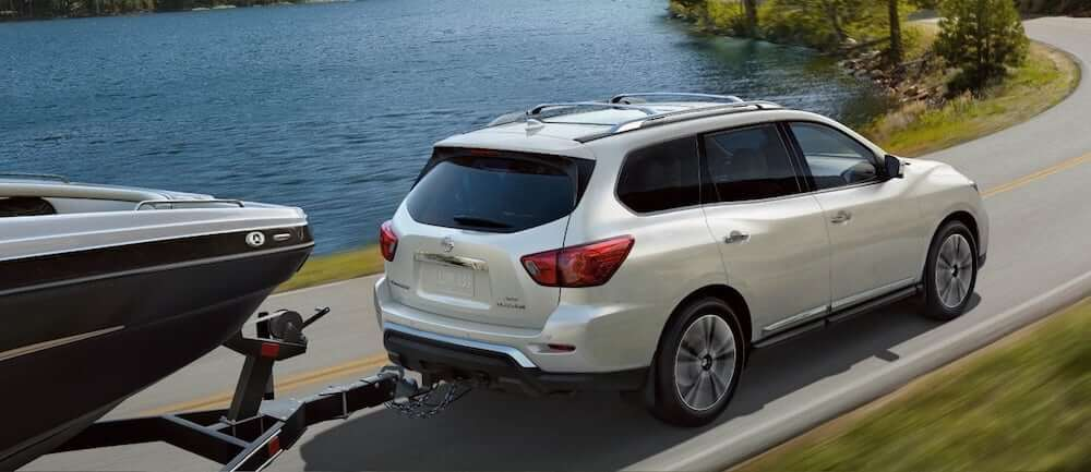 New 2019 Nissan Pathfinder SUV for sale at Henderson Nissan dealership near Las Vegas
