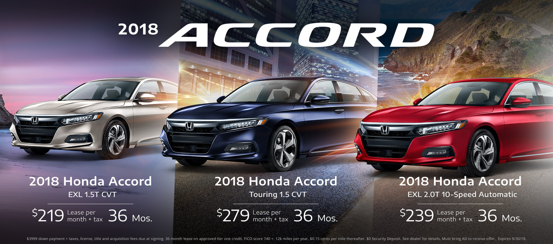 Honda Accord Sedan Lease Specials