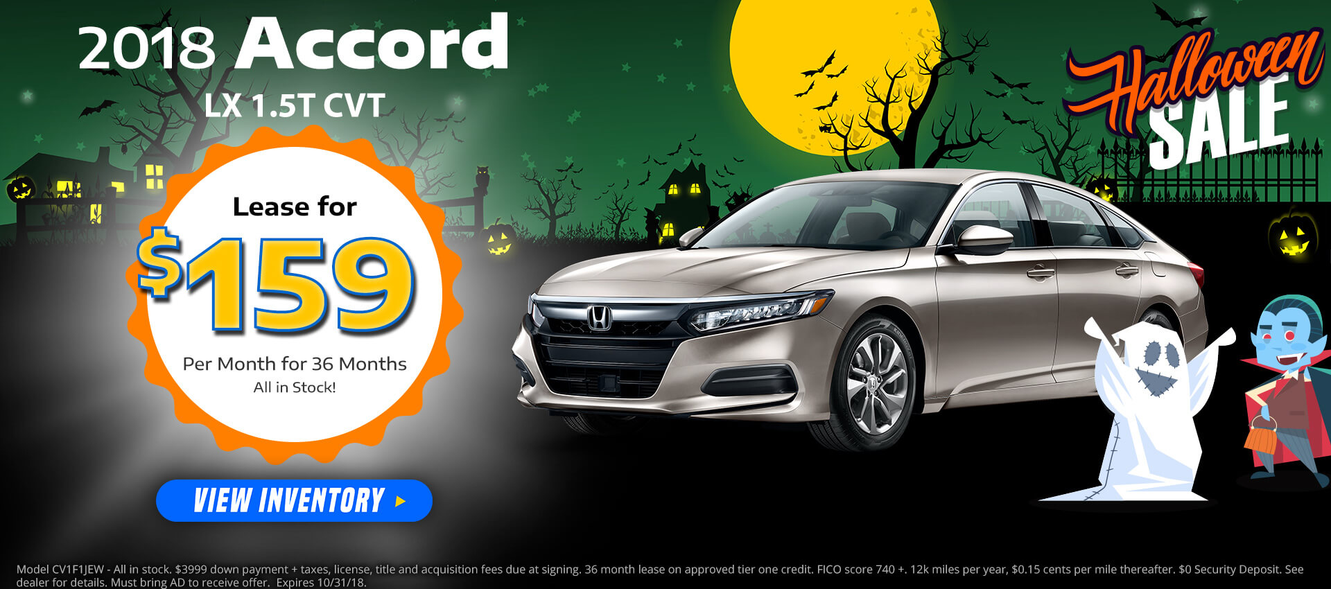 Honda Accord $159 Lease