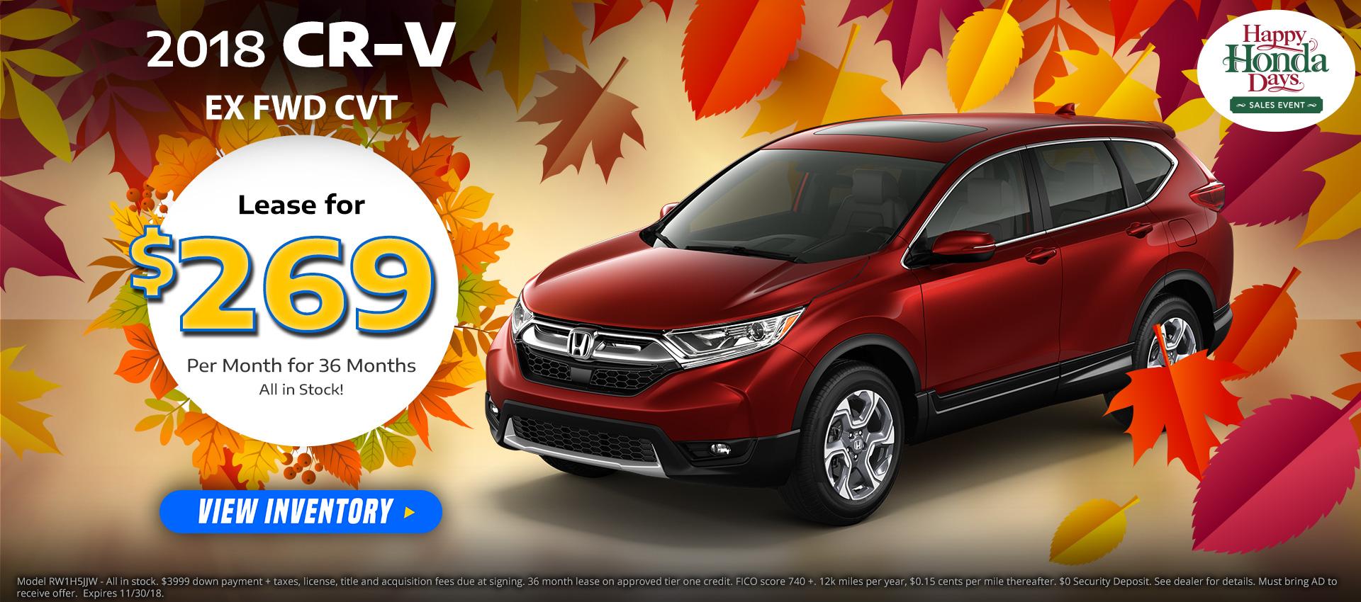 Honda CRV $269 Lease