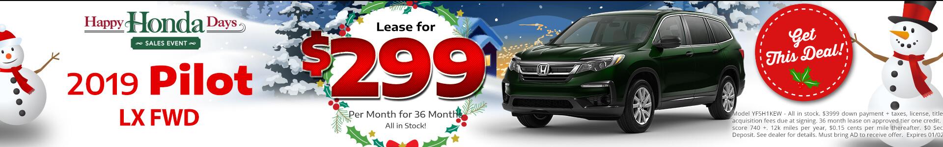 Honda Pilot $299 Lease