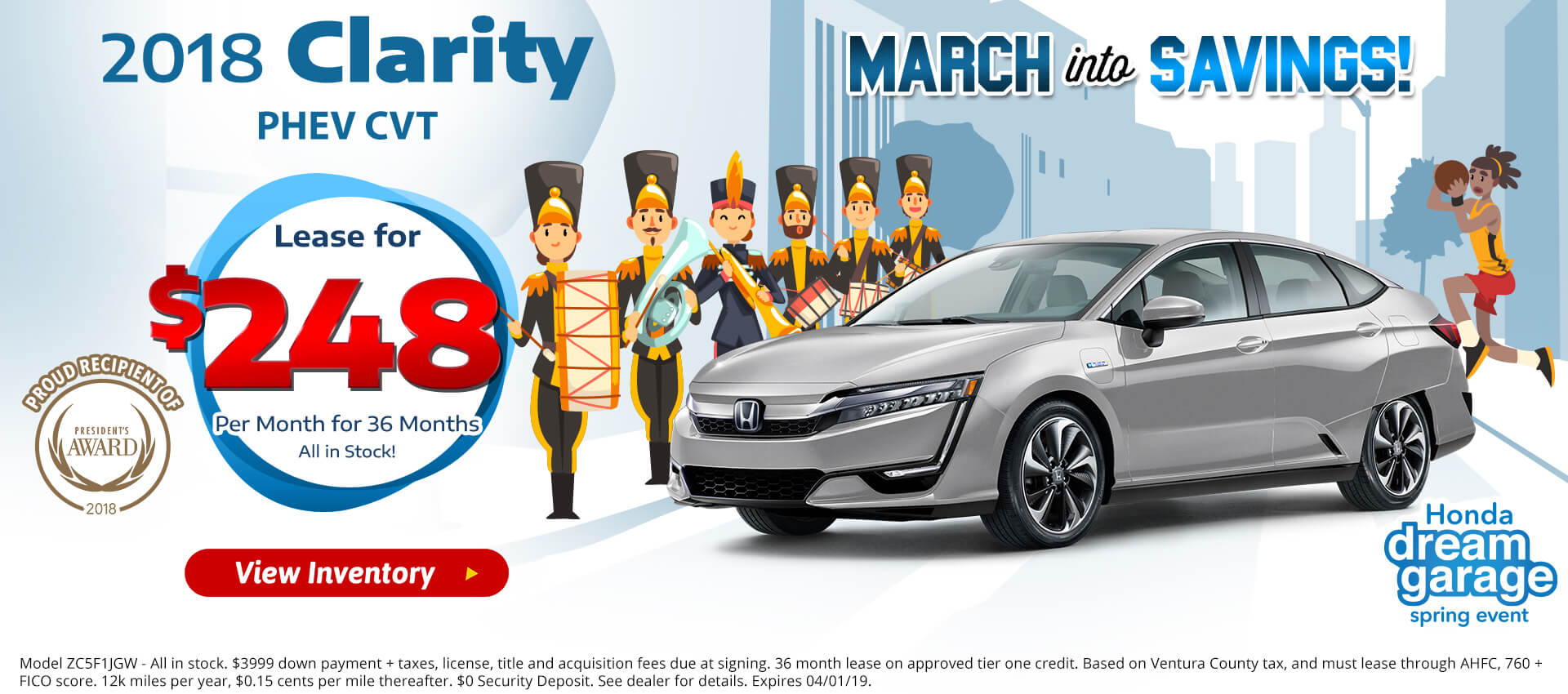 Honda Clarity PHEV $248 Lease