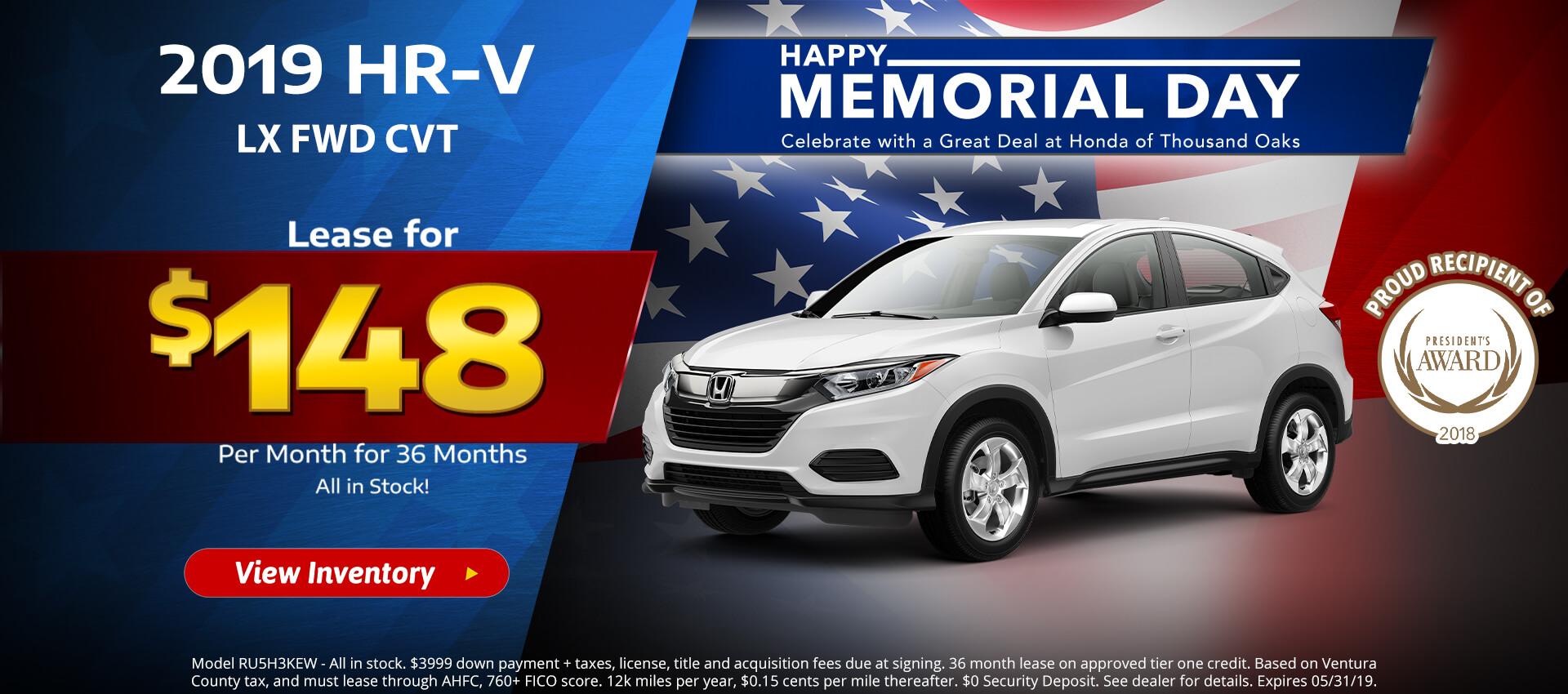 Honda HRV $148 Lease