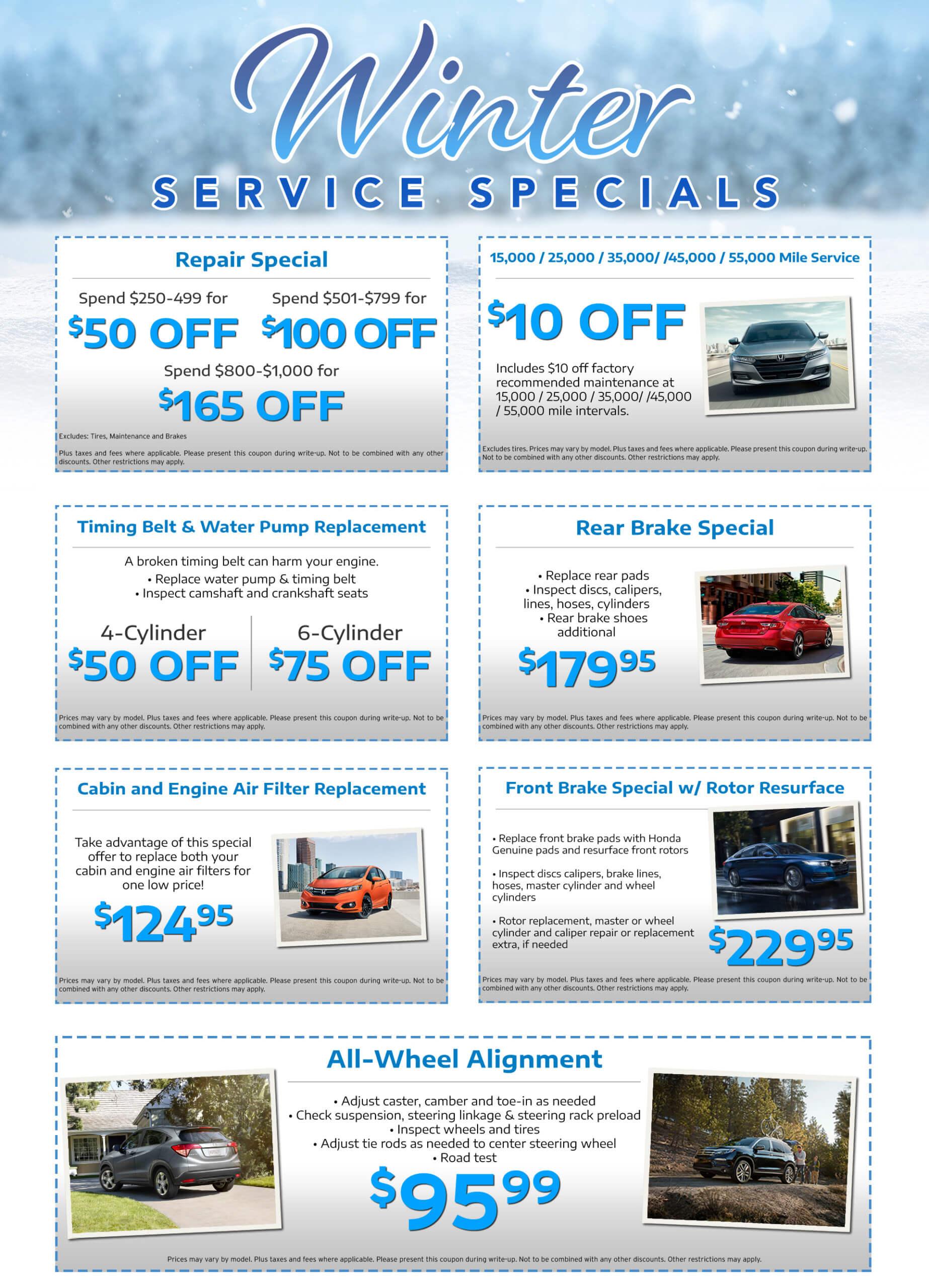 Honda Service Coupons