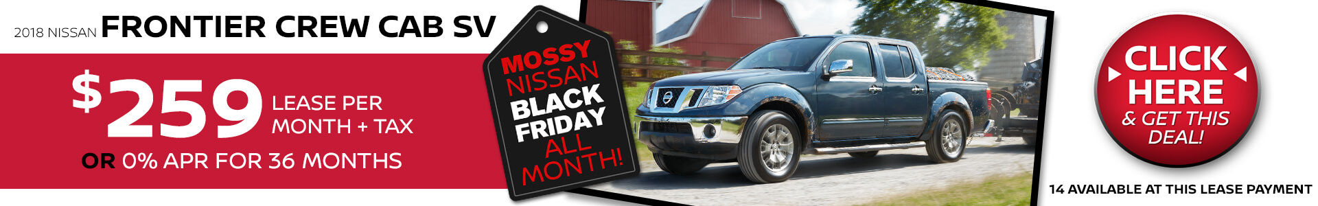 Nissan Frontier $259 Lease