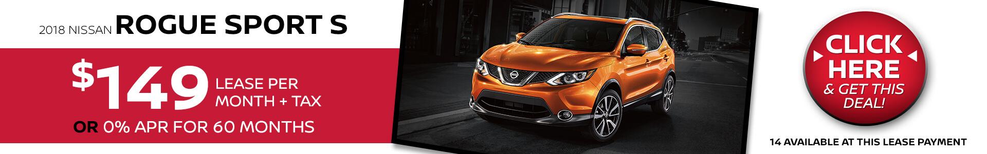 Nissan Rogue Sport $149 Lease