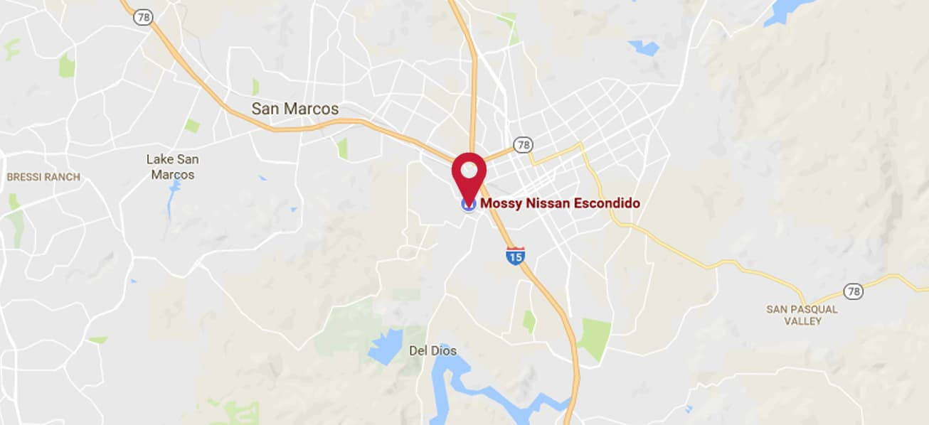 See a Map of the Seven Mossy Nissan Locations in San Diego California