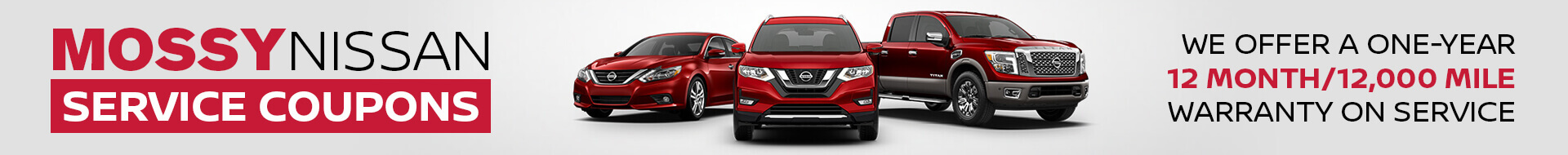 Mossy Nissan Service Coupons