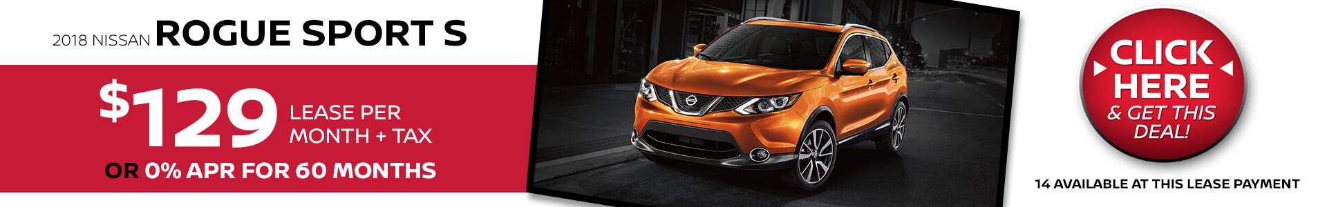 Nissan Rogue Sport $129 Lease