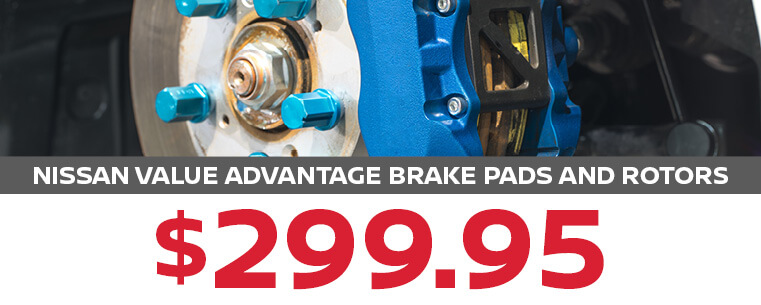 Nissan Value Advantage Brake Pads and Rotors
