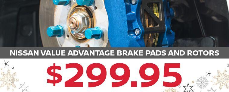 Nissan Value Advantage Brake Pads and Rotors