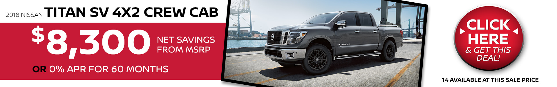Nissan Titan $8,300 Net Savings From MSRP