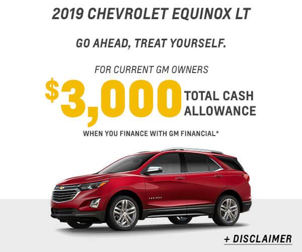 2019 Equinox Cash Allowance