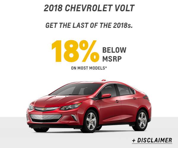 2018 Volt 18% Below Offer