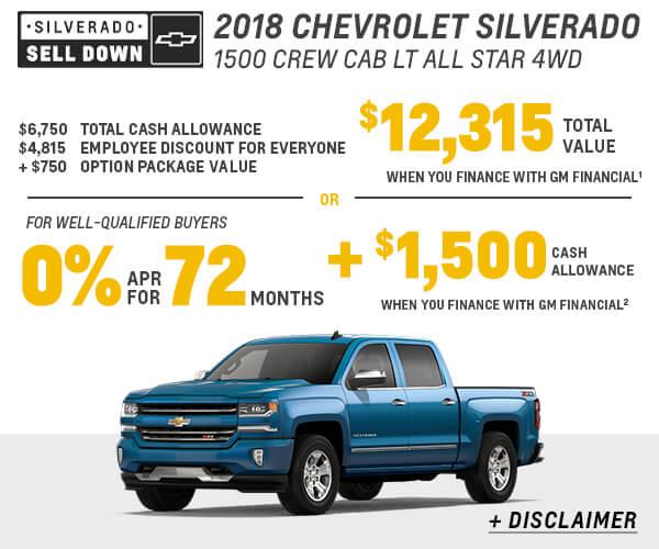 2018 Silverado Sell Down