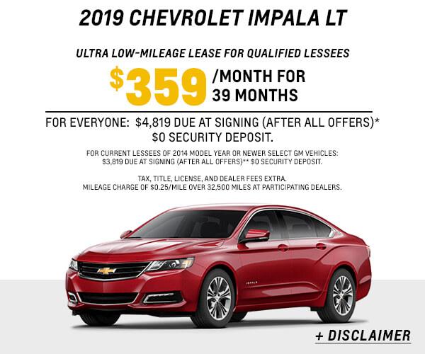 2019 Impala LT Lease