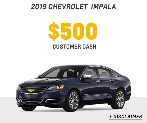 2019 Impala Cash Allowance