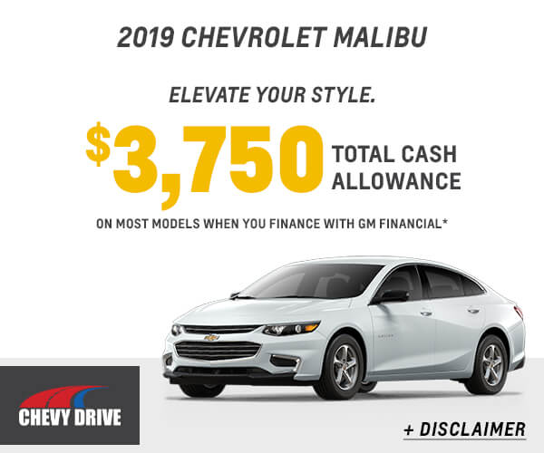2019 Malibu Cash Allowance
