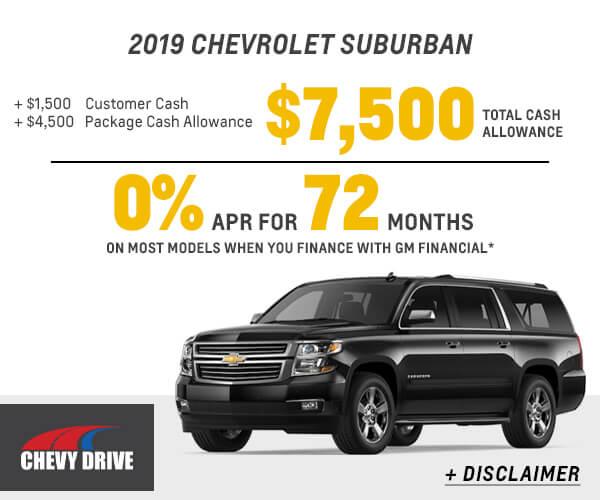 2019 Suburban Cash Allowance