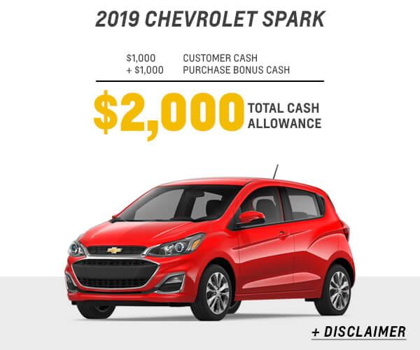 2019 Spark Cash Allowance