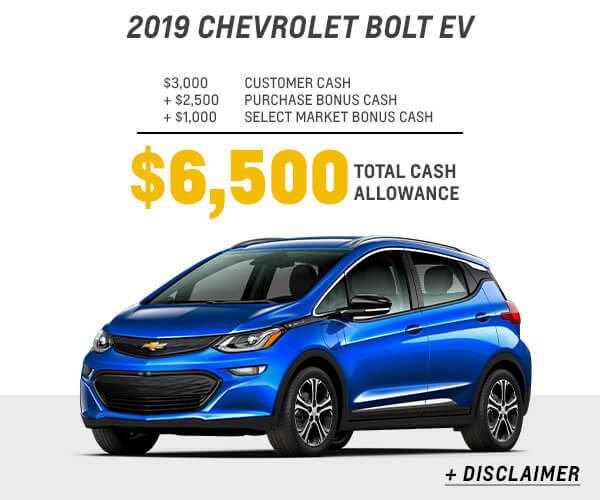 2019 Bolt EV Cash Allowance