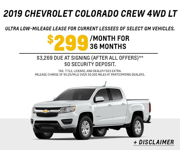 2019 Colorado Crew LT Lease