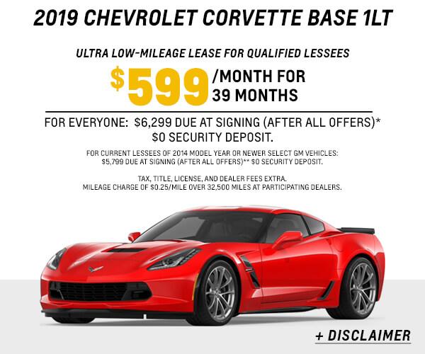 2019 Corvette 1LT Lease