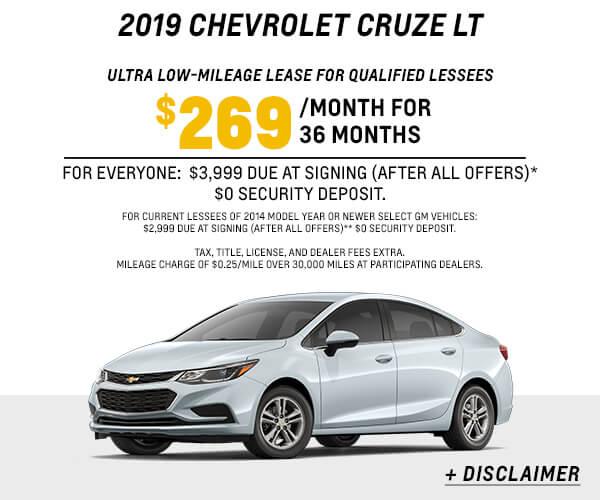 2019 Cruze LT Lease
