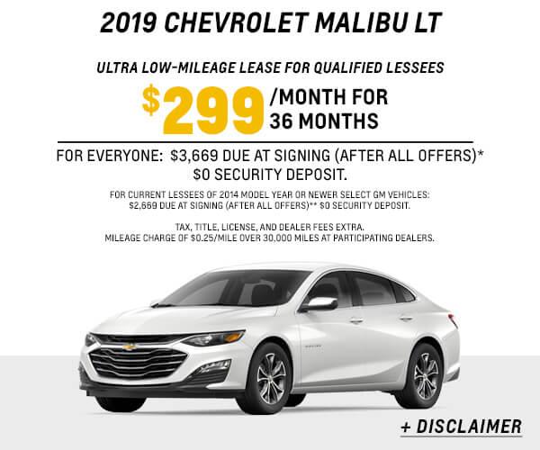 2019 Malibu LT Lease