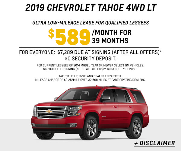 2019 Tahoe 4WD LT Lease