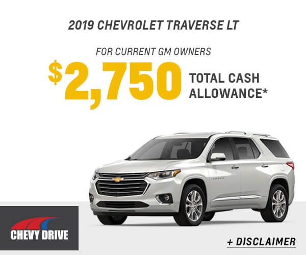 2019 Traverse Cash Allowance
