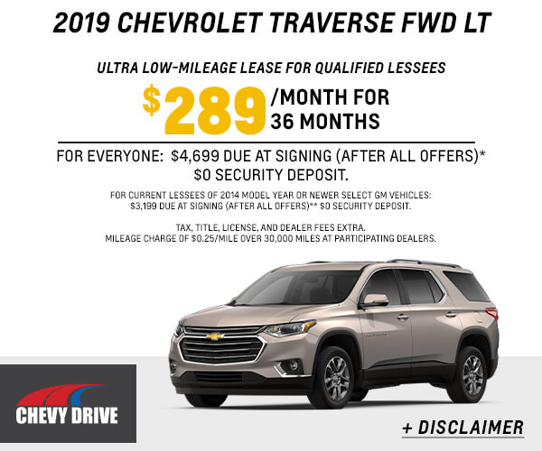 2019 Traverse LT Lease