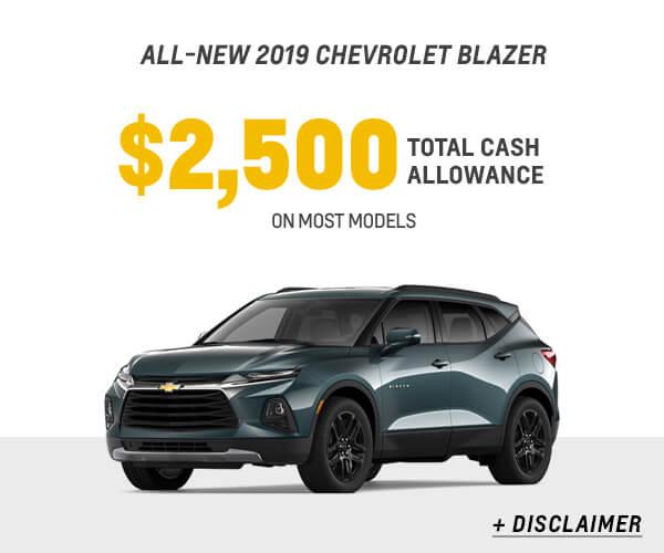 2019 Blazer Cash Allowance