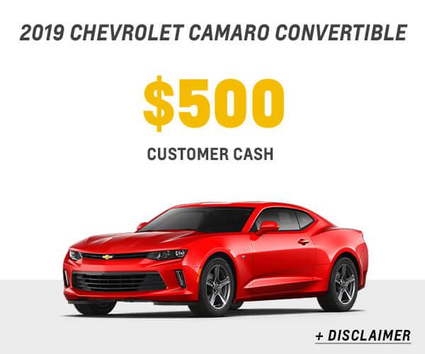 2018 Camaro Cash Allowance