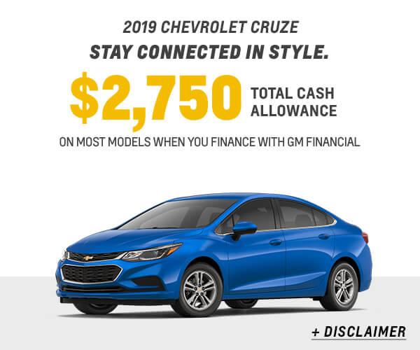 2019 Cruze Cash Allowance