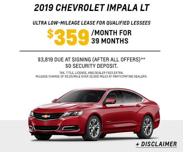 2019 Impala Lease