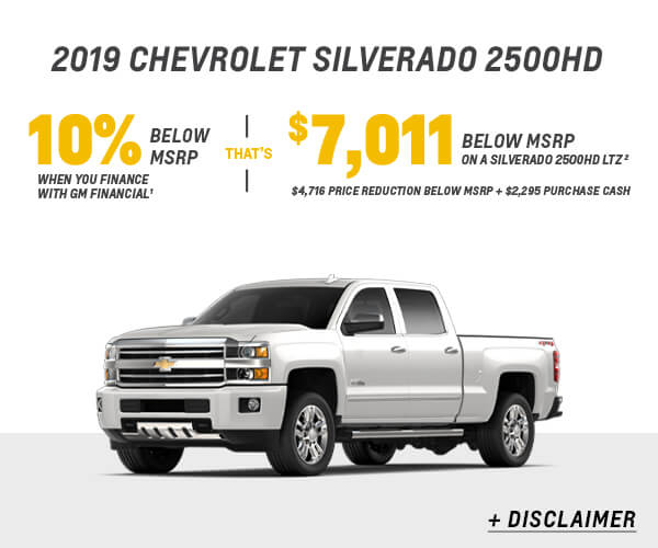 2019 Silverado 2500HD Cash Allowance