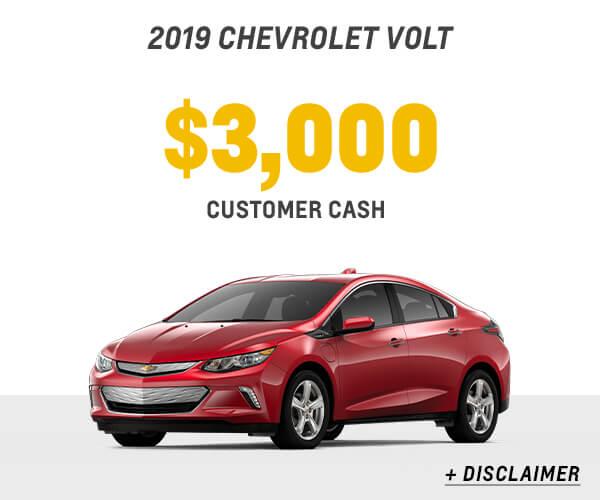 2018 Volt Cash Allowance