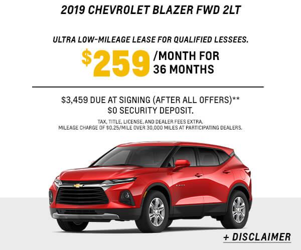 2019 Blazer Lease